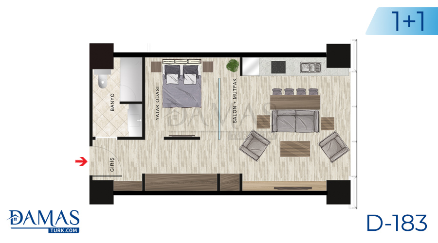 Damas Project D-183 in Istanbul - Floor plan picture  02