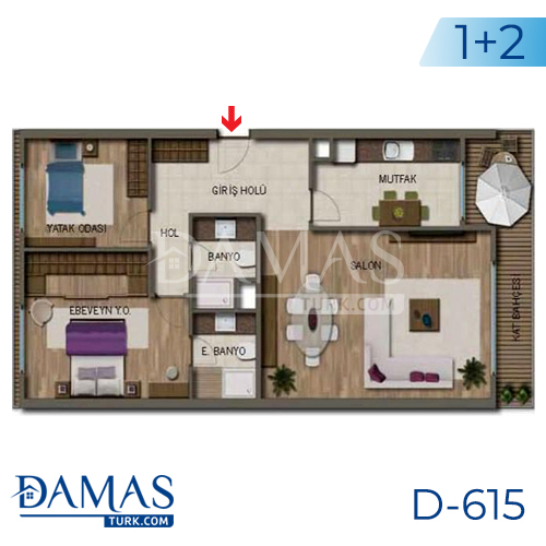 Damas Project D-615 in Antalya - Floor plan picture 02