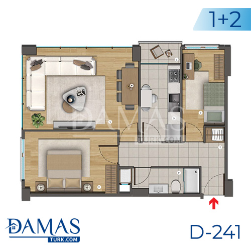 Damas Project D-241 in Istanbul - Floor plan picture  02