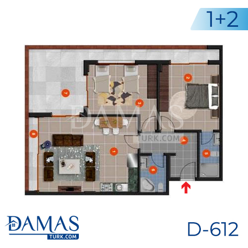 Damas Project D-612 in Antalya - Floor plan picture 02