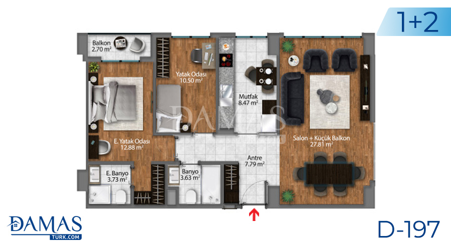 Damas Project D-197 in Istanbul - Floor plan picture  02