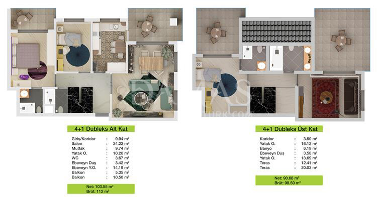 Damas 203 Project in Bursa - Floor Plan 02