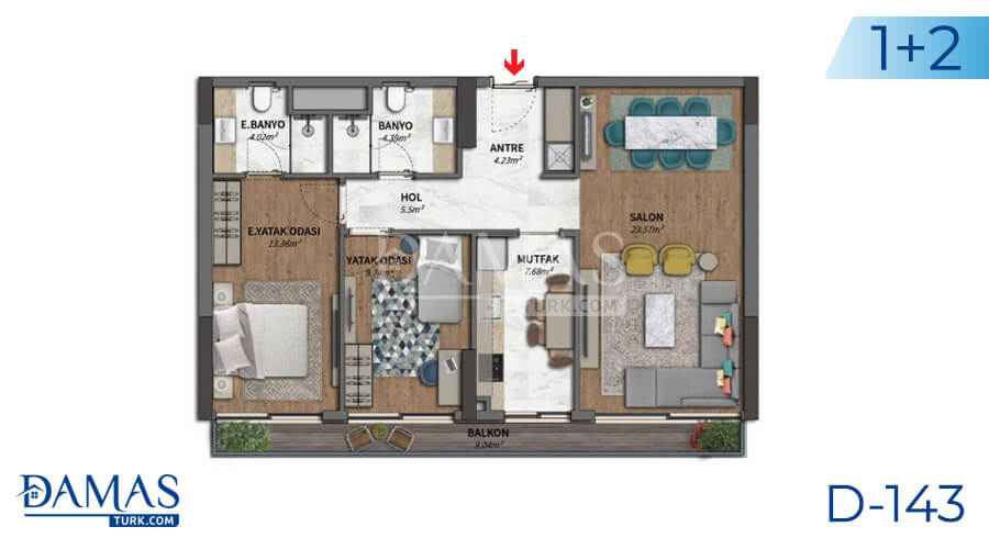 Damas Project D-143 in Istanbul - Floor plan picture 02