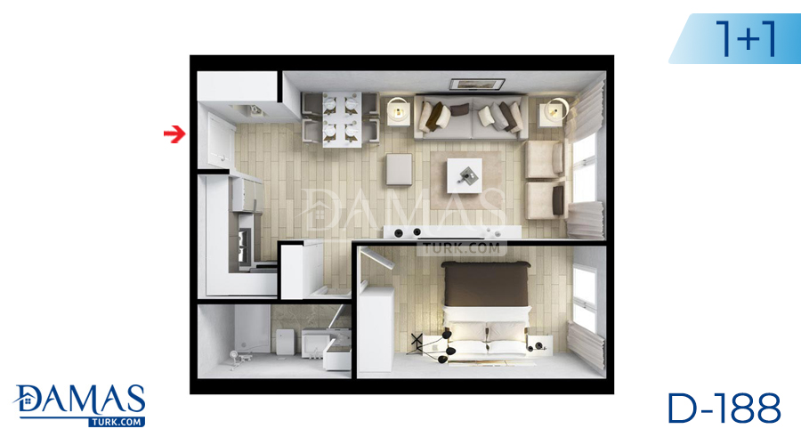 Damas Project D-188 in Istanbul - Floor plan picture  02
