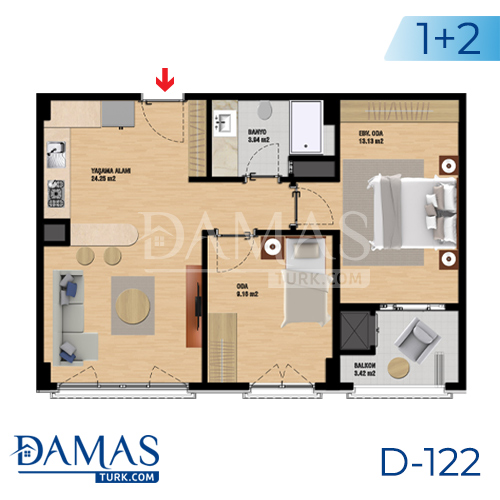 Damas Project D-122 in Istanbul - Floor plan picture 02
