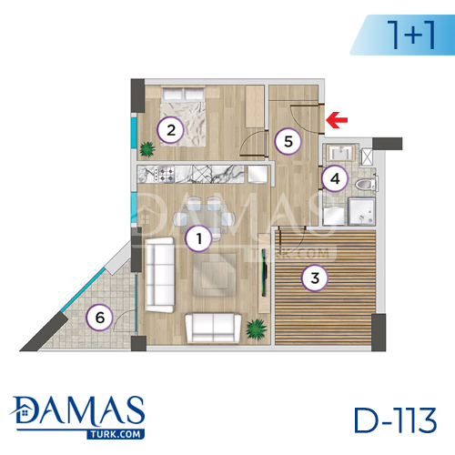Damas Project D-113 in Istanbul - Floor plan picture 02