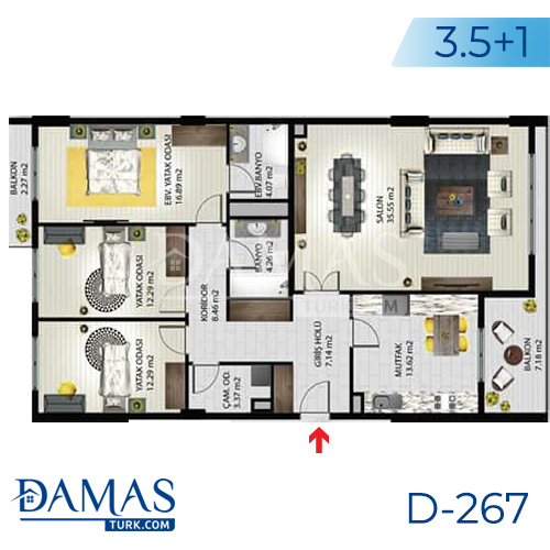 Damas Project D-267 in Istanbul - Floor plan picture 02