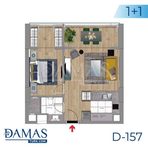 Damas Project D-157 in Istanbul - Floor plan picture 02