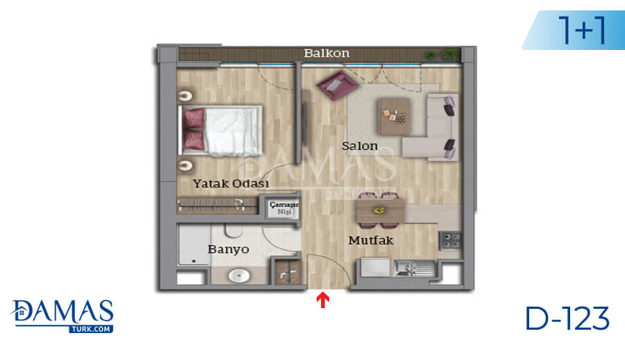 Damas Project D-123 in Istanbul - Floor plan picture 02