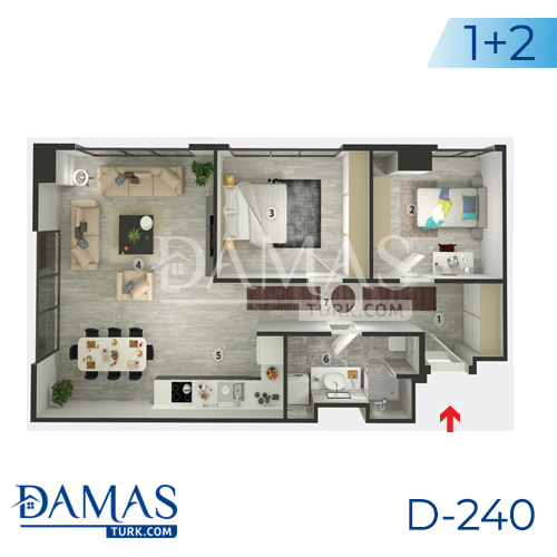 Damas Project D-240 in Istanbul - Floor plan picture  02