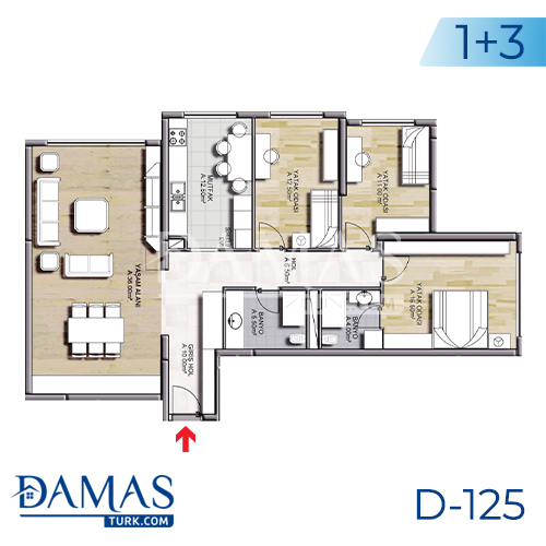 Damas Project D-125 in Istanbul - Floor plan picture 02