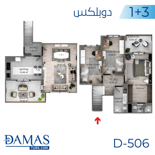 Damas Project D-506 in kocaeli - Floor plan picture 02