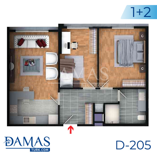 Damas Project D-205 in Istanbul - Floor plan picture  02