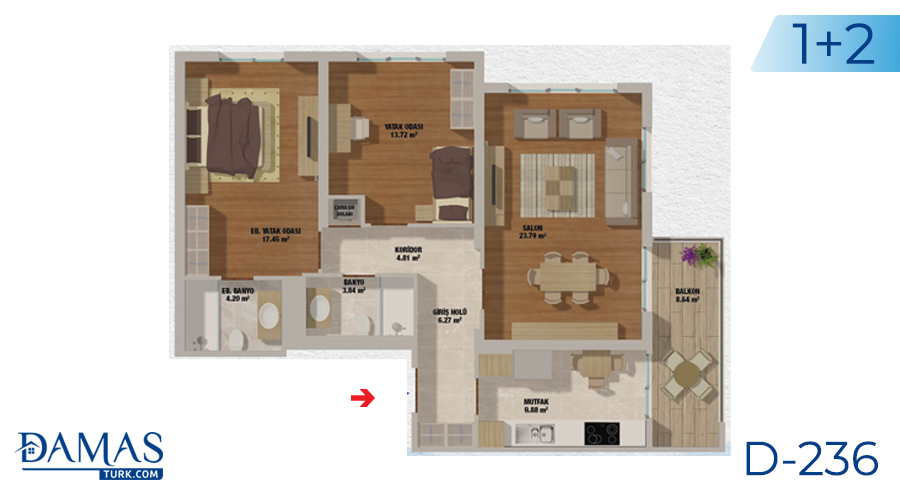 Damas Project D-236 in Istanbul - Floor plan picturer  02