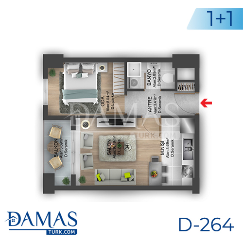 Damas Project D-264 in Istanbul - Floor plan picture 02