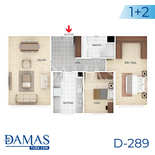 Damas Project D-289 in Istanbul - Floor plan picture 02