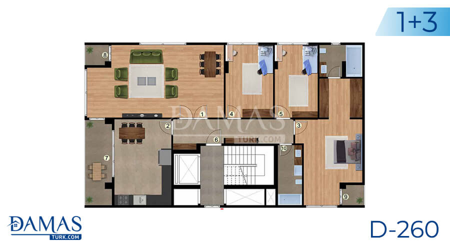Damas Project D-260 in Istanbul - Floor plan picture 02