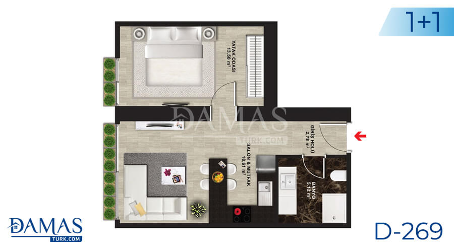 Damas Project D-269 in Istanbul - Floor plan picture 02