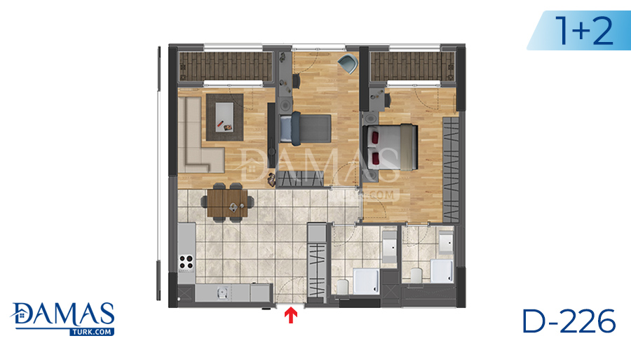 Damas Project D-226 in Istanbul -Floor plan picture  02