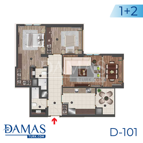 Damas Project D-101 in Istanbul - Floor plan picture 02