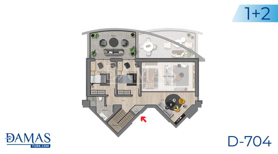 Damas Project D-704 in Ankara - Floor plan picture 02
