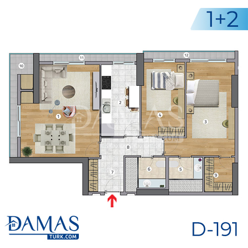 Damas Project D-191 in Istanbul - Floor plan picture  02
