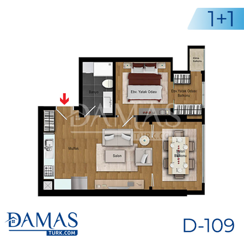 Damas Project D-109 in Istanbul - Floor plan picture 02