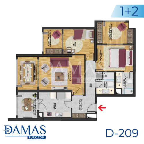 Damas Project D-209 in Istanbul - Floor plan picture  02