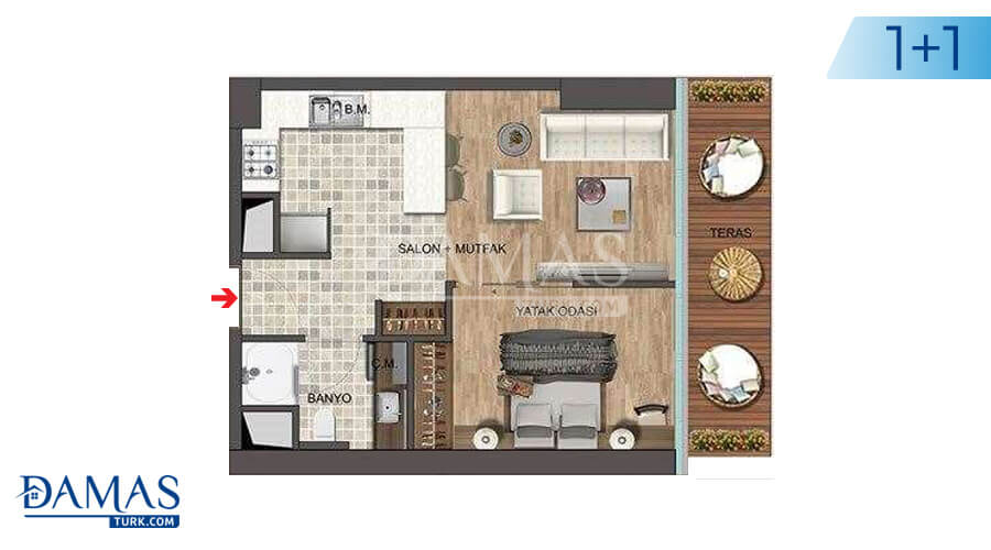 Damas Project D-139 in Istanbul - Floor plan picture 02