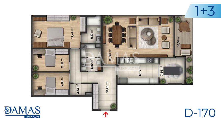 Damas Project D-170 in Istanbul - Floor plan  picture  02