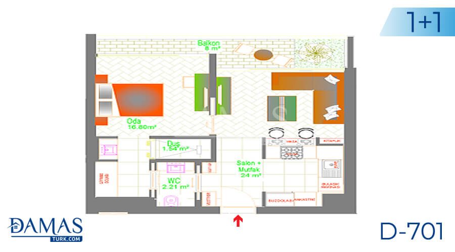 Damas Project D-701 in Ankara - Floor plan picture 02