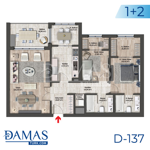 Damas Project D-137 in Istanbul - Floor plan picture 02