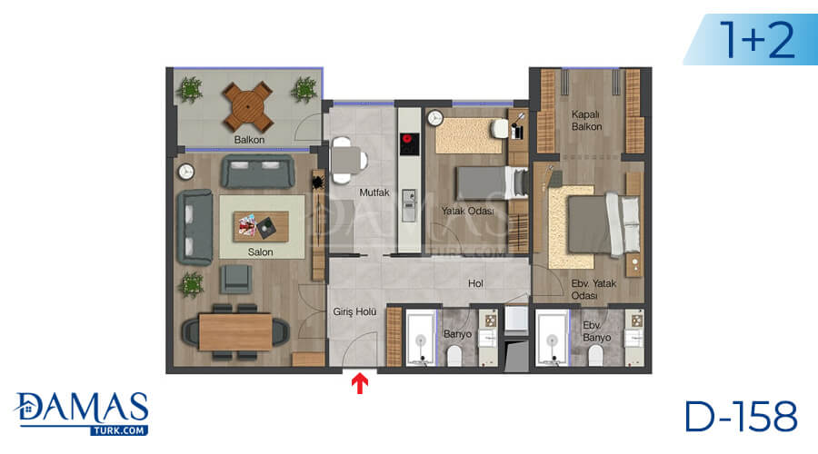 Damas Project D-158 in Istanbul - Floor plan picture 02