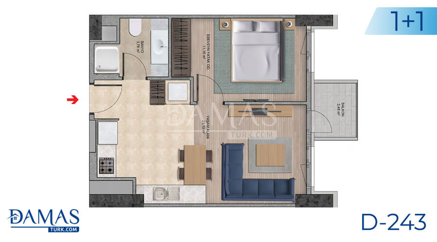 Damas Project D-243 in Istanbul - Floor plan picture  02