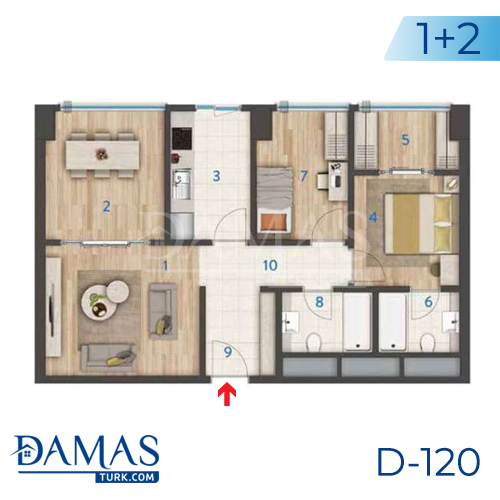 Damas Project D-120 in Istanbul - Floor plan picture 02