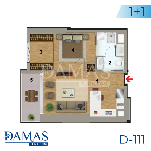 Damas Project D-111 in Istanbul - Floor plan picture 02