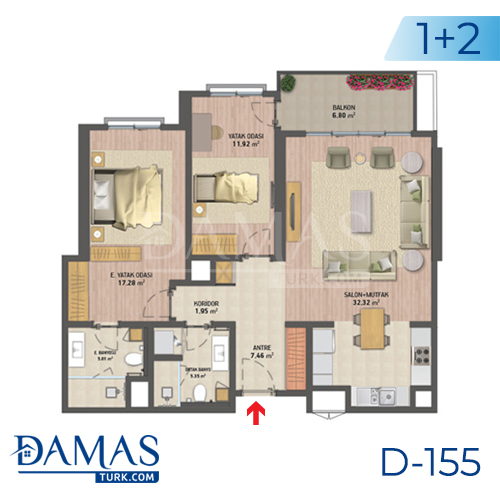 Damas Project D-155 in Istanbul - Floor plan picture 02