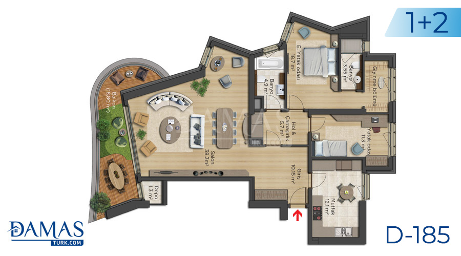 Damas Project D-185 in Istanbul - Floor plan picture  02