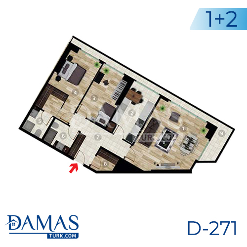 Damas Project D-271 in Istanbul - Floor plan picture 02