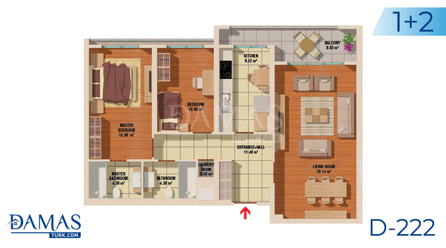 Damas Project D-222 in Istanbul - Floor plan picture  02