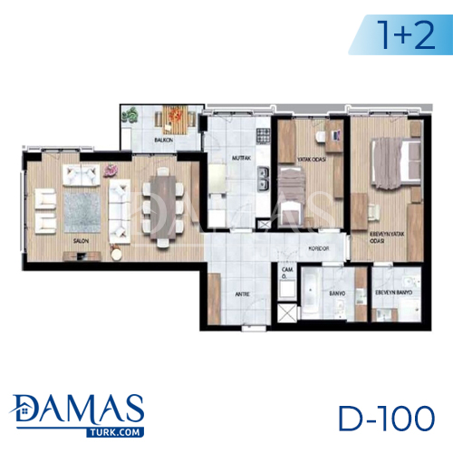 Damas Project D-100 in Istanbul - Floor plan picture 02