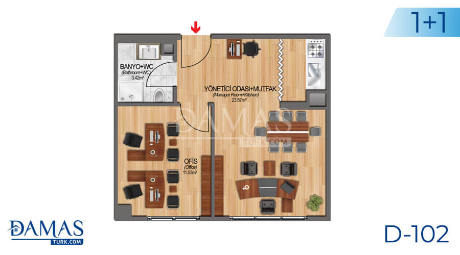 Damas Project D-102 in Istanbul - Floor plan picture 02