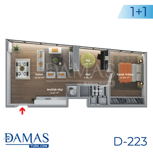 Damas Project D-223 in Istanbul - Floor plan  picture  02