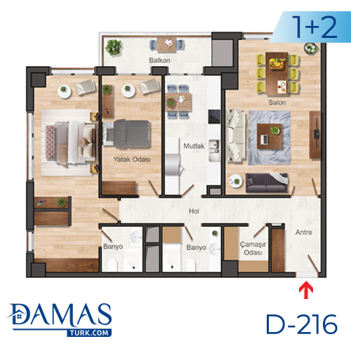 Damas Project D-216 in Istanbul - Floor plan picture  02