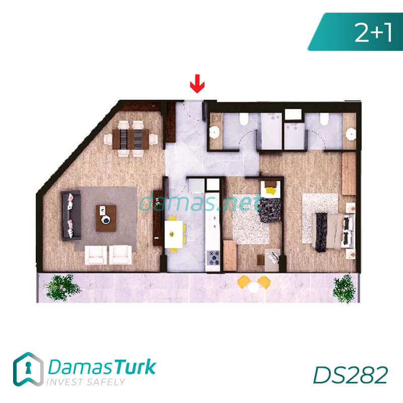 Investment complex ready for housing and installment in the European area, Istanbul zeytinburnu region DS282 || damas.net 02