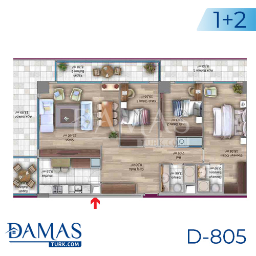 Damas Project D-805 in Istanbul - Floor plan picture 02