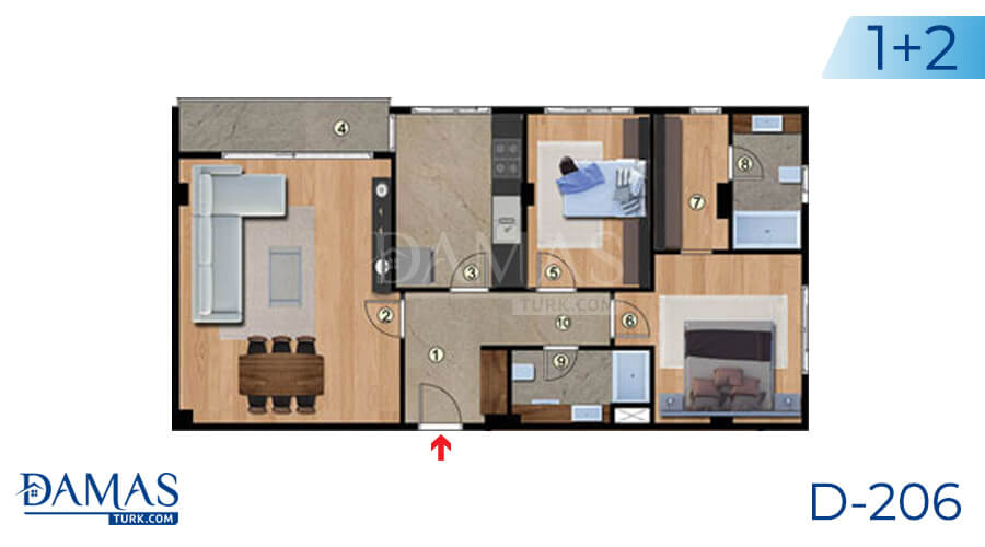 Damas Project D-206 in Istanbul - Floor plan picture 02