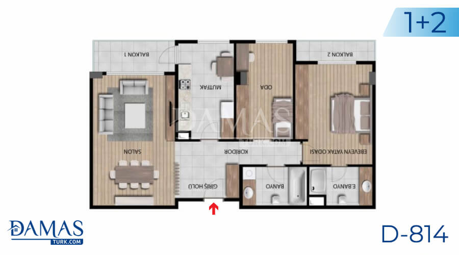 Damas Project D-814 in Istanbul - Floor plan picture 02