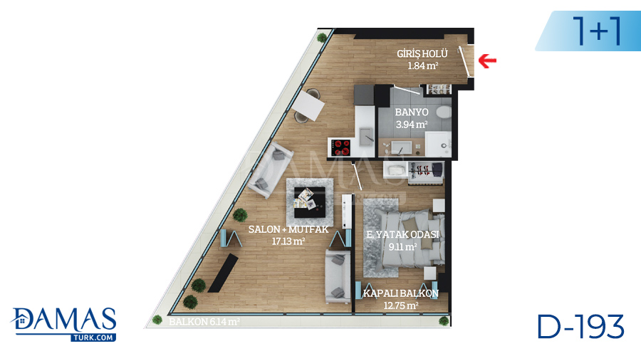 Damas Project D-193 in Istanbul - Floor plan picture  02