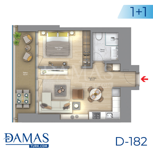 Damas Project D-182 in Istanbul - Floor plan picture  02